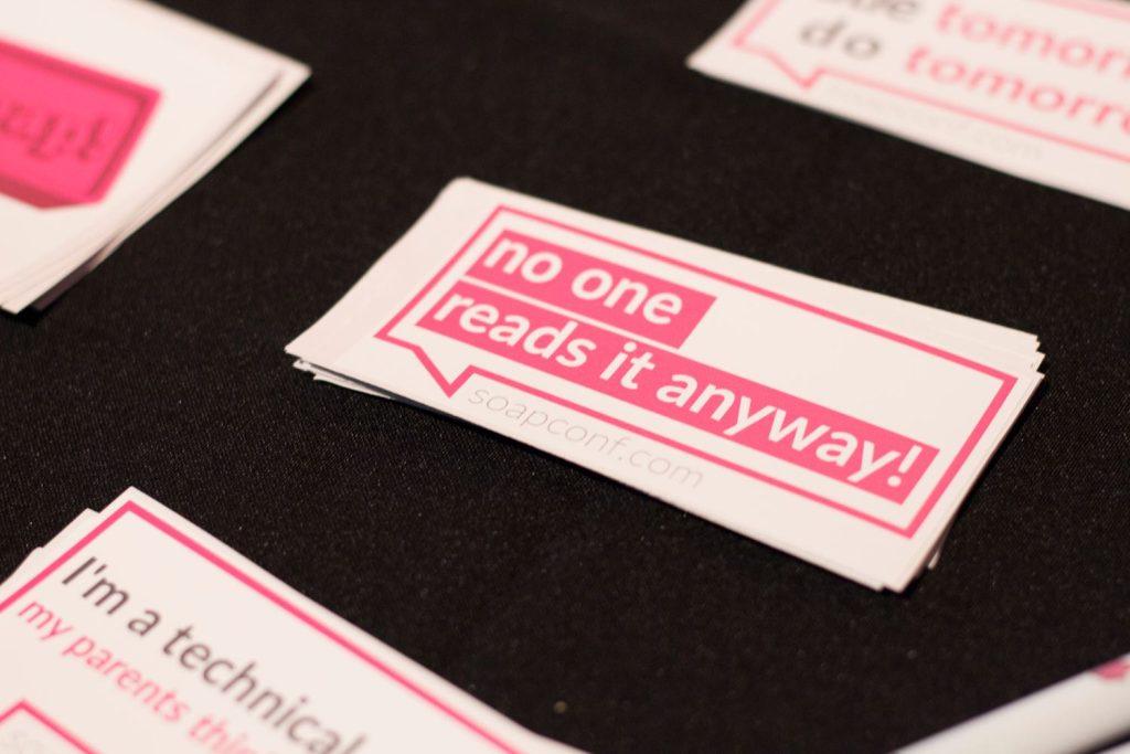 Soap Conference sticker