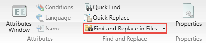 Find and Replace in Files window button